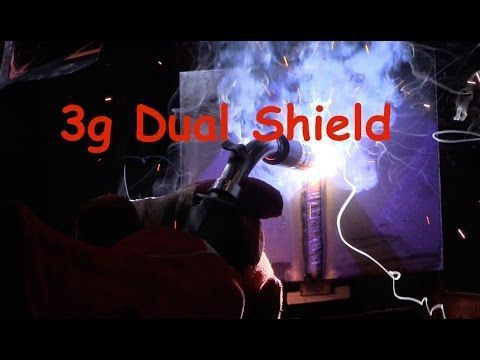 3g Dual Shield vertical up- YouTube. Self-shielded flux-cored welding differs from MIG welding in that it doesn't require an external shielding gas..a flux compound..within the hollow wire reacts with the welding arc to form a gas..it can be thought of as an inside-out stick electrode. - https://www.millerwelds.com/resources/article-library/flux-cored-welding-the-basics-for-mild-steel#sthash.R7VSXbe3.dpuf