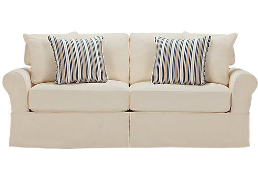 Possible Sleeper Sofa White Or Blue Denim Slipcover