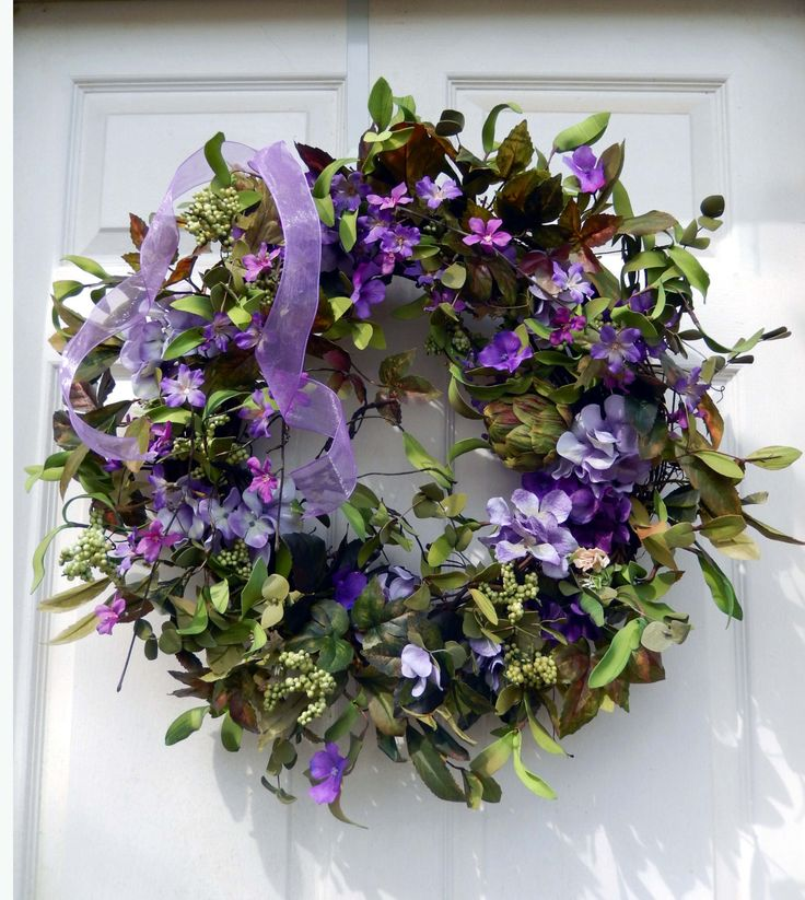 Floral Wreath Spring/Summer Wreath Summer Wreath by forevermore1