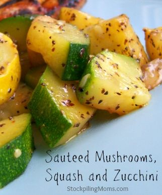 Sauteed Mushrooms, Squash and Zucchini is a healthy side dish and so easy to prepare