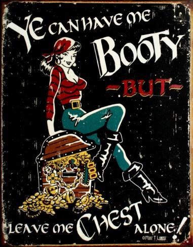 Me Booty Tin SignTins Signs, Vintage Tins, Booty Tins