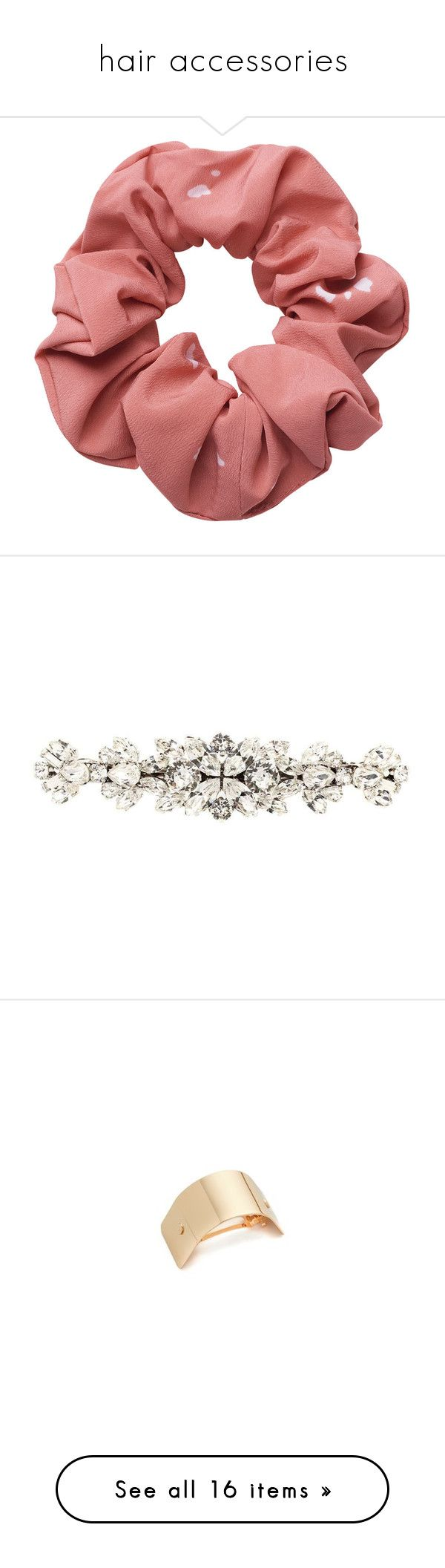 """""""hair accessories"""" by whitesandprincess ❤ liked on Polyvore featuring accessories, hair accessories, hair, scrunchie hair accessories, jewelry, hats, white, white hair accessories, dolce gabbana hair accessories and silver hair accessories"""