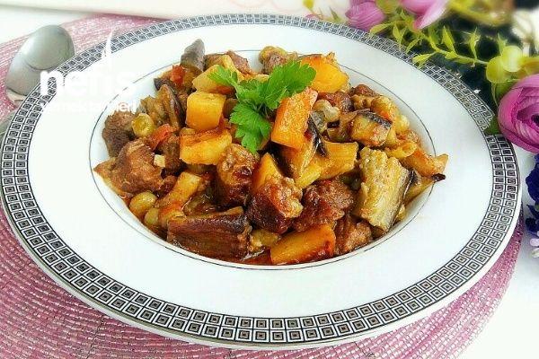 Etli Sebzeli Kebap (Kızartarak)