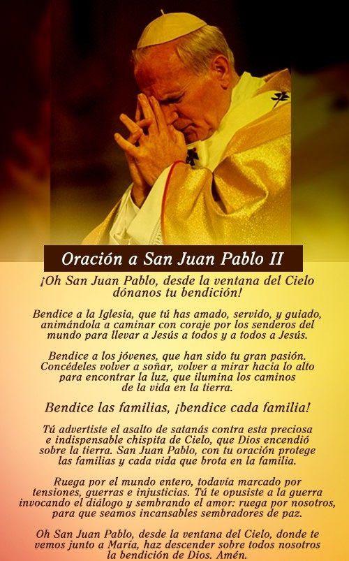 Oracion oficial a San Juan Pablo II