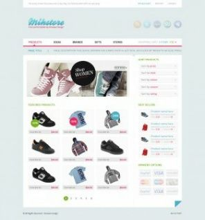 Simple clothes store shop template