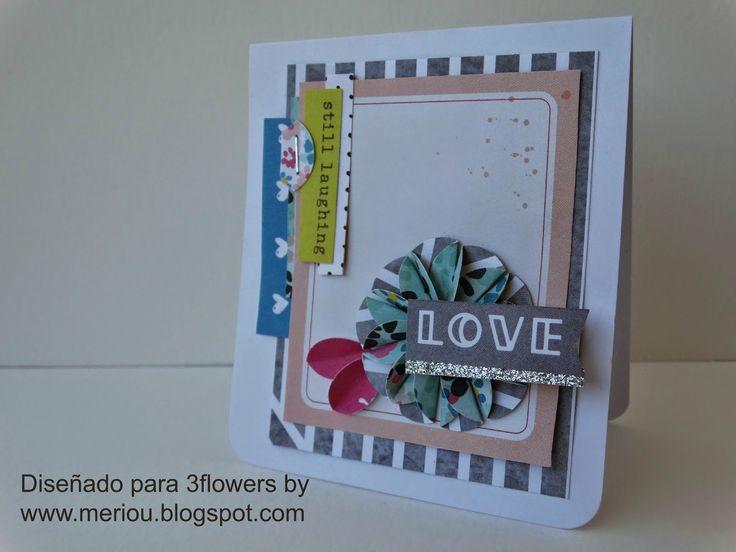 3flowers - retos de tarjetas-MARIOLA
