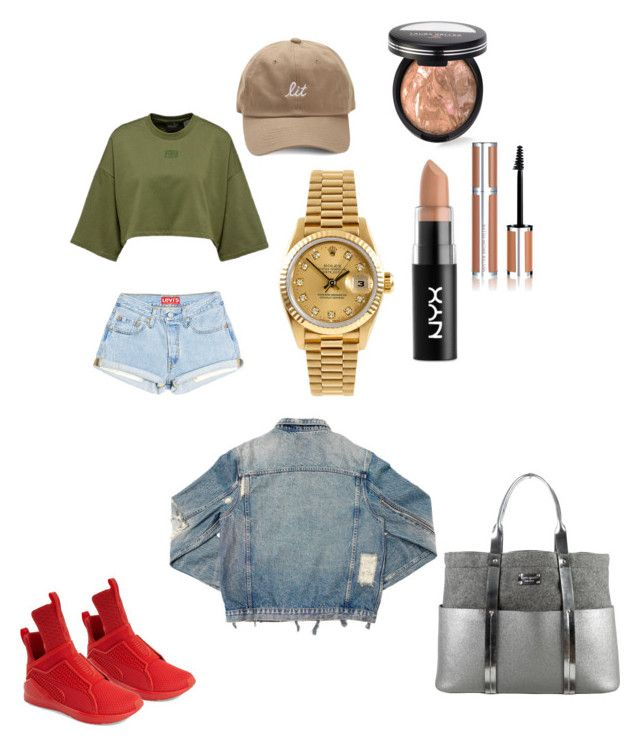"""""""OOTD"""" by madisonkiss on Polyvore featuring Puma, Laura Geller, Rolex, Kate Spade, NYX, AMIRI and Givenchy"""