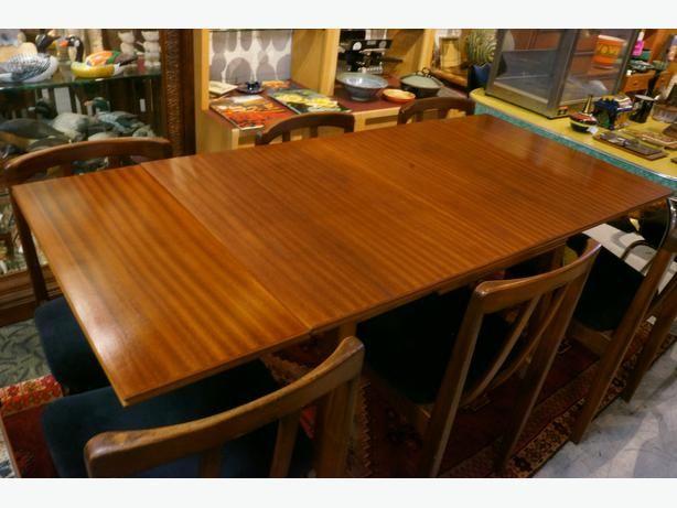 Mid Century Modern Teak Draw Leaf Dining Table (I-51198)