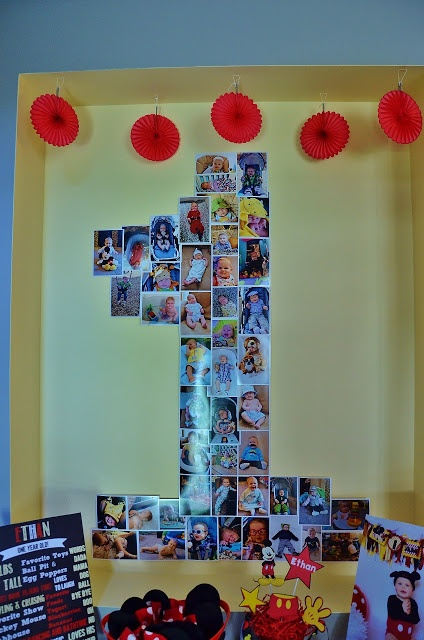 Mickey Mouse themed 1st birthday party idea