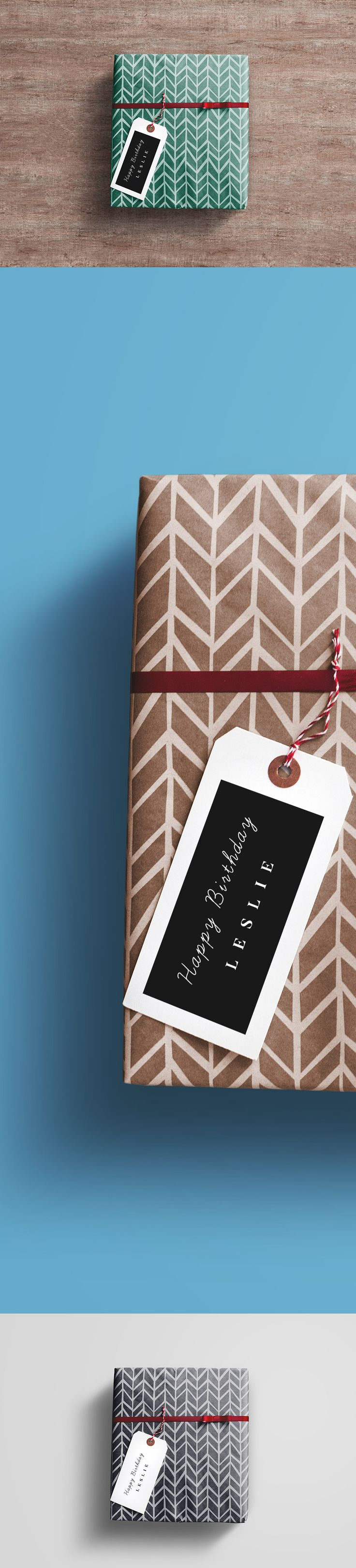 Gift Wrap #Box #PSD #Mockup