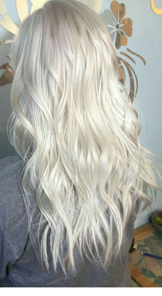 Icy Blonde Hair Color Inspiring Ladies Hair In 2019 Ice Blonde