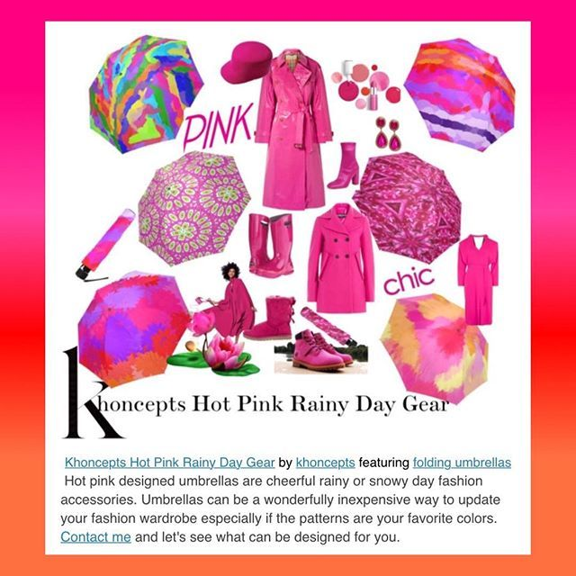 Umbrellas are a wonderfully inexpensive way to update your fashion wardrobe especially if the patterns are your favorite colors. Send me your favorite combos!🌂 #umbrellas #fashionaccessories #artkhoncepts #art #pink #fashionfriday