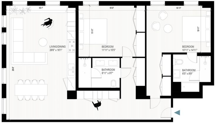 OPERASTUDIO - Project - Apartment renovation - plan #nyc #italianstyle #renovation