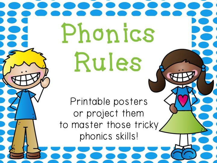 Phonics Rules - Anchor Charts to use in your classroom. Great for RTI!