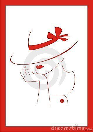 Mulher em um chapéu