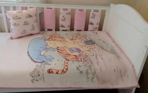 Baby girls vintage Winnie the Pooh bedding by Tinytoadcreations