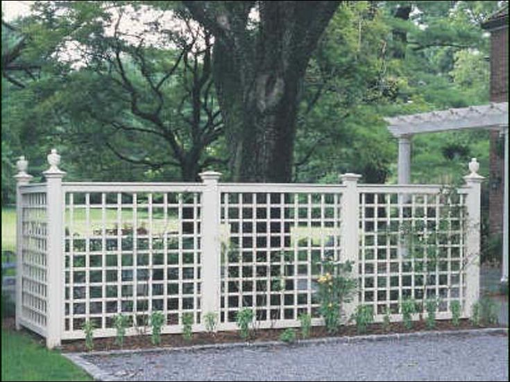 22 best images about pergola and arbors on pinterest for Lattice garden fence designs