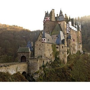 Burg Eltz Castle Perhaps the most famous of German castles, Burg Eltz Castle is a towering medieval structure located in a lush forest in the Lower Moselle Valley near Koblenz. The first mention of a Burg Eltz was in 1157. Burg Eltz Castle has remained in the same family ever since—for more than 30 generations.