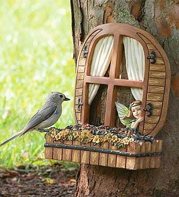This unique bird feeder from Plow & Hearth will capture the heart of every romantic soul and fairytale lover.