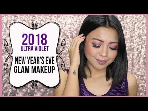 NEW YEAR'S EVE GLAM MAKEUP 2018 ULTRA VIOLET   Gen-zel Habab http://makeup-project.ru/2018/01/02/new-years-eve-glam-makeup-2018-ultra-violet-gen-zel-habab/