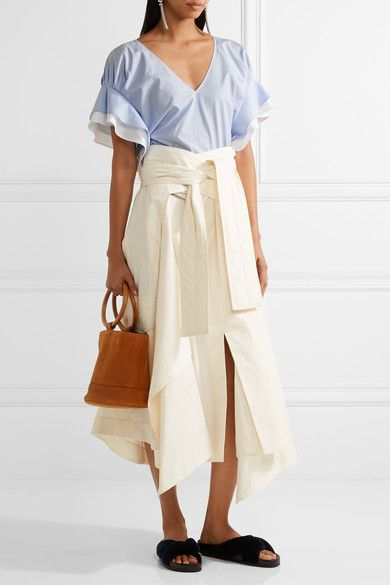 ADEAM, $495. Light-blue and white cotton-poplin Slips on 100% cotton Machine wash Made in Japan