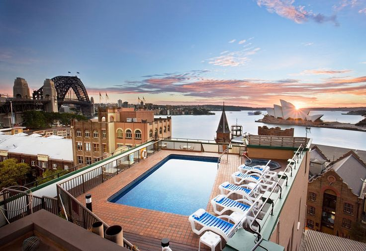 Piscina sul tetto dell'Old Sydney Holiday Inn – Sydney