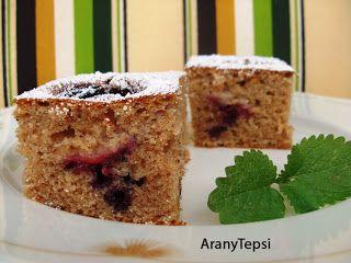 AranyTepsi: Szilvás-fahéjas sütemény tejfölös tésztából