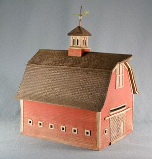 "Gambrel Barn with Cupola and Small Square Windows. ""By the late 19th and early 20th centuries, some gable-front barns were being built with gambrel roofs which allowed for more storage of hay"""