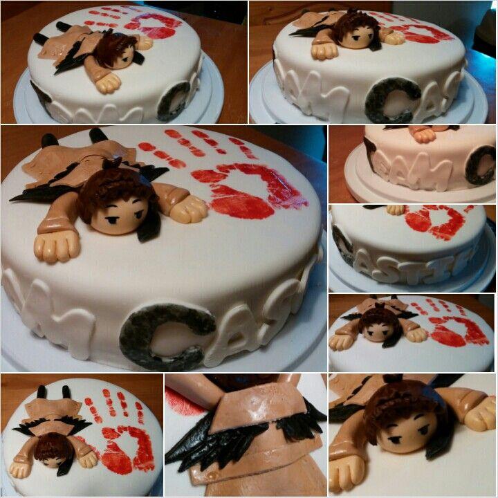 team castiel cake i made this cupcakecake pinterest
