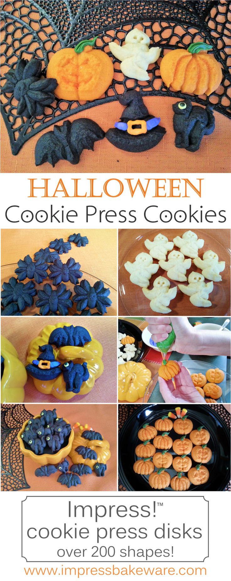 7 Halloween spritz cookie shapes for your cookie press