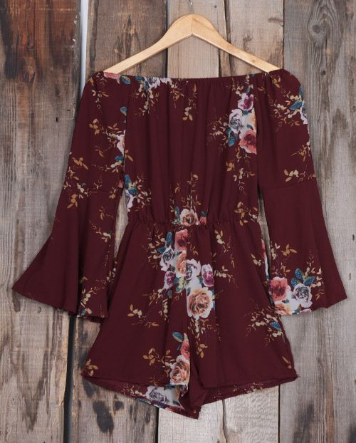 Cozy day starts with this off the shoulder romper! Free shipping&easy return! En... 15