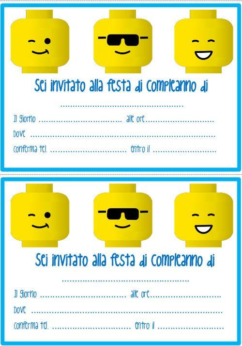 Inviti di compleanno Lego