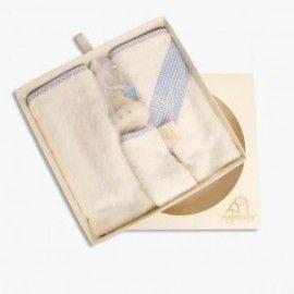 Cuddledry newborn cadeauset blauw