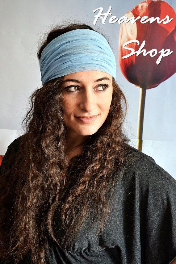 Yoga Headband Wide Headband Bohemian Headband Boho by HeavensShop