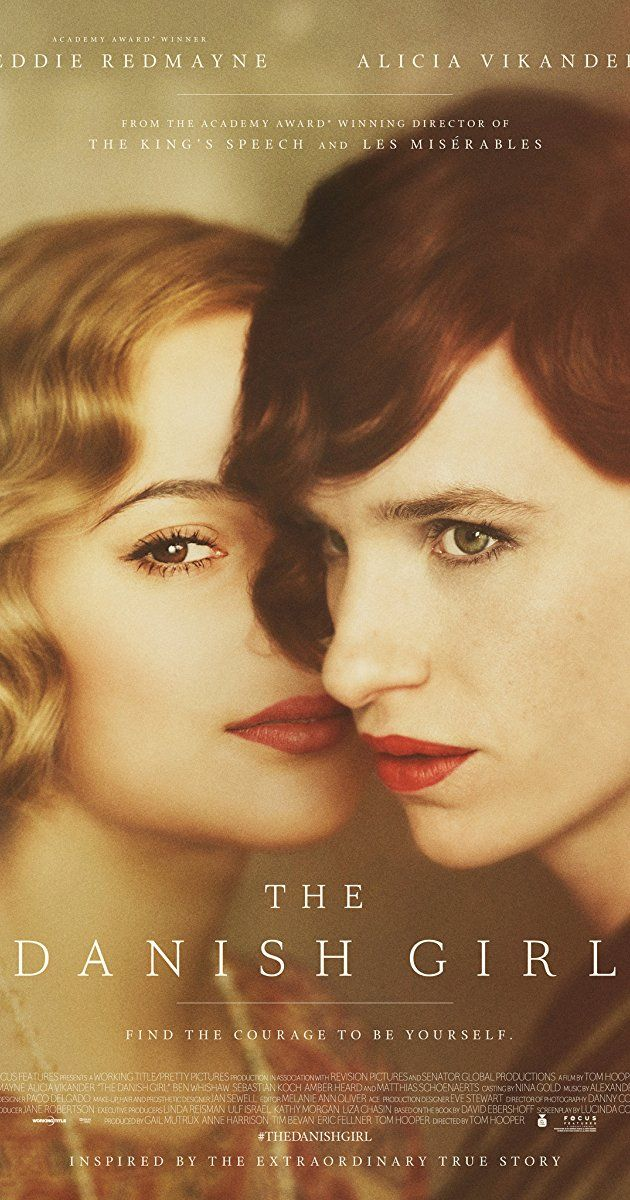 Directed by Tom Hooper.  With Eddie Redmayne, Alicia Vikander, Amber Heard, Ben Whishaw. A fictitious love story loosely inspired by the lives of Danish artists Lili Elbe and Gerda Wegener. Lili and Gerda's marriage and work evolve as they navigate Lili's groundbreaking journey as a transgender pioneer.