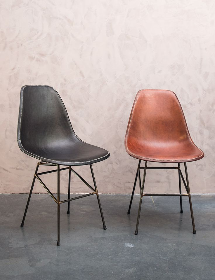 Design lederen eetkamerstoelen - Leather dining chairs - handmade - buffalo leather - #WoonTheater