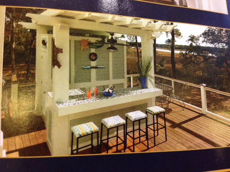 Deck Bar Ideas In This Months Charleston Stylereally Liking One