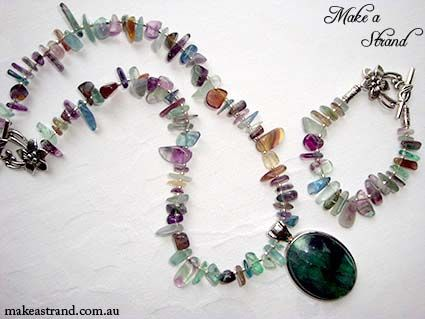 Flourite is so fabulous - Make a Strand loves this set! (Bracelet sold) (Necklace NFS - from Amanda's private collection)
