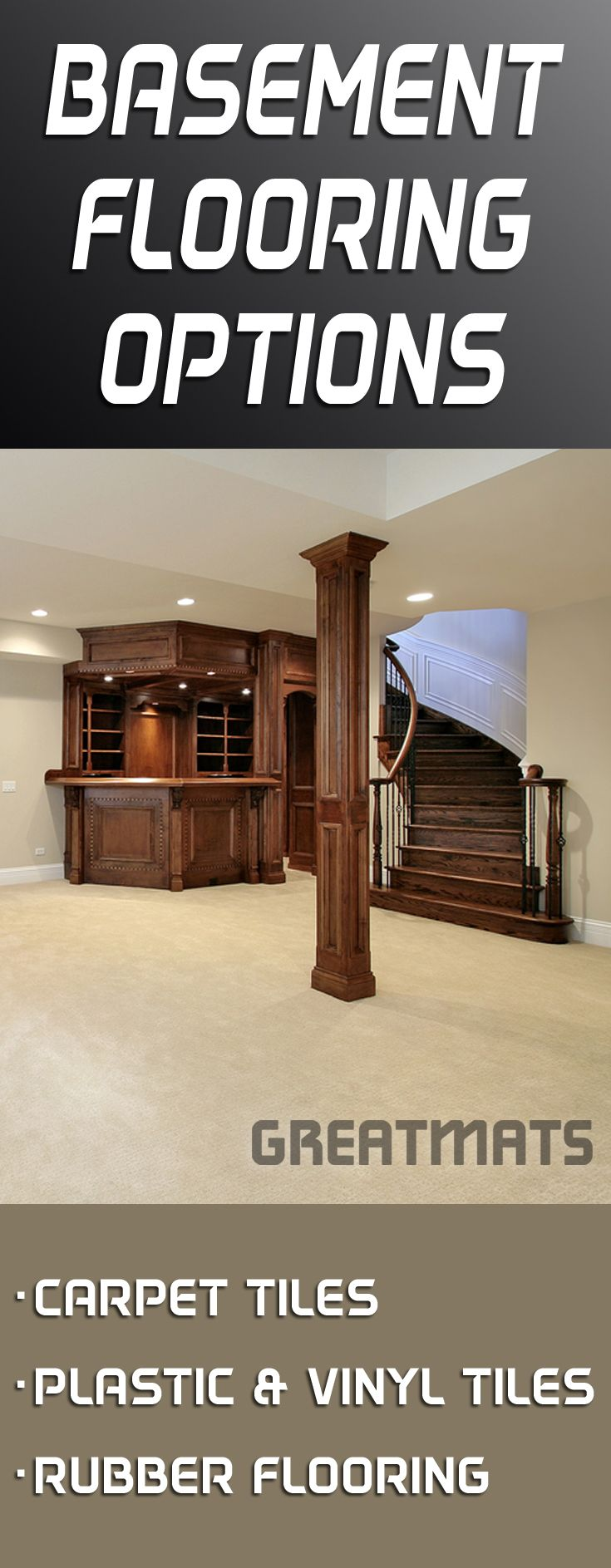 Rubber floor mats for basement - Find A Large Selection Of Basement Flooring Options At Greatmats Com