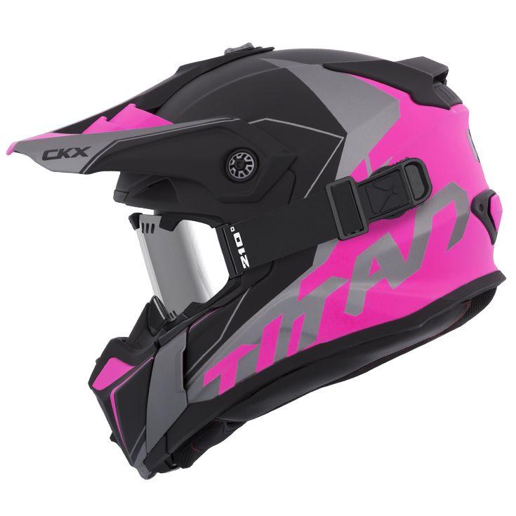 CKX - Off-road winter helmets - TITAN Cliff Pink - kimpexnews.com