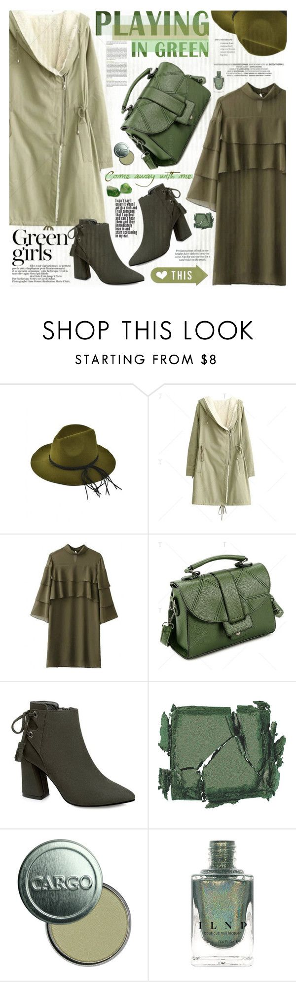"""""""PLAYING IN GREEN"""" by katjuncica ❤ liked on Polyvore featuring Green Girls, Surratt, CARGO, GREEN, greencoat and greenandgreenandgreen"""