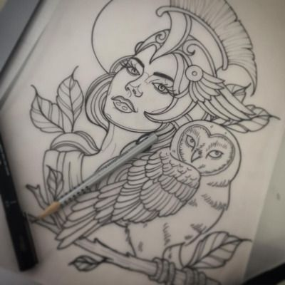 For next week hopefully! #athena #tattoo #drawing #sketch