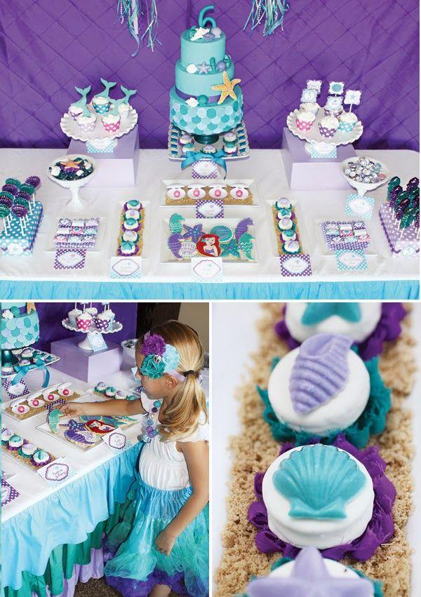 Festa de aniversário inspirada na Pequena Sereia