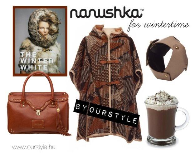 Ourstyle on Polyvore    Bag -Dora Abodi  Poncho -Nanushka  Bracelet -Sarolt