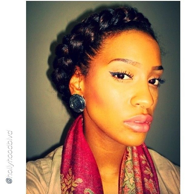Luv your Halo Braid Hair Pinterest Natural Afro and - Hairstyles For Big Forehead
