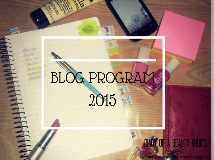 Blog Program 2015
