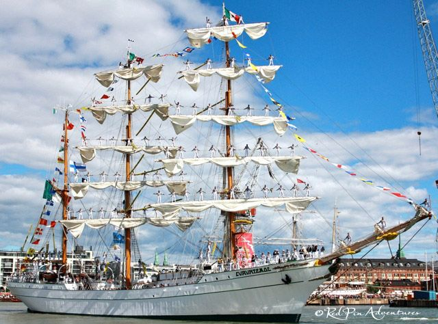 The Mexican Tall Ship,Cuauhtémoc! The Tall Ships Races in Helsinki, Finland.