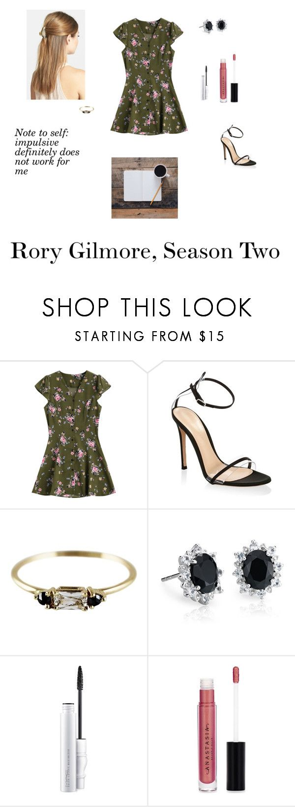 """""""RG Season 2"""" by meghtom on Polyvore featuring Gianvito Rossi, Blue Nile, MAC Cosmetics, Anastasia Beverly Hills and France Luxe"""