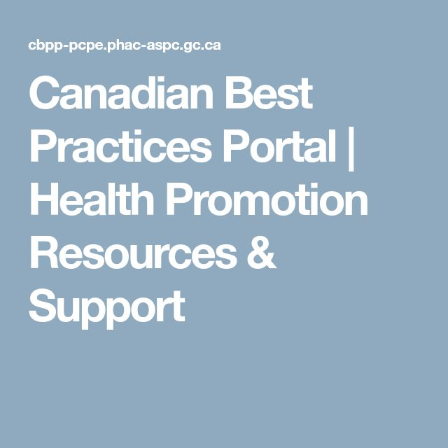 Canadian Best Practices Portal | Health Promotion Resources & Support