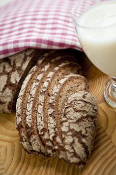 2 leipää Vaihe 1: 2 dl kädenlämpöistä vettä hapanleivänjuurta 1 dl ruisjauhoja Vaihe 2: 6 dl kädenlämpöistä vettä ½-1 rkl suolaa noin 2 l ruisjauhoja Vaihe 1: 1. Sekoita vesi, juuri ja ruisjauhot…